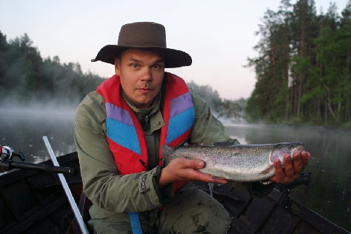 Rainbow trout is a typical game species at special sites.