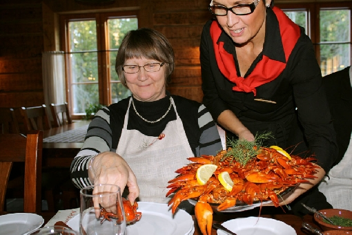 Autumn is the season for crayfish parties.