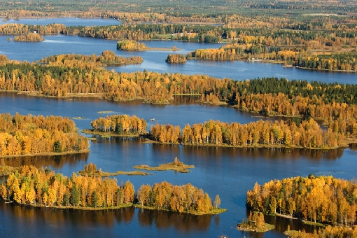 Autumn colours at their most beautiful. Lake Ullavajärvi, Ullava.