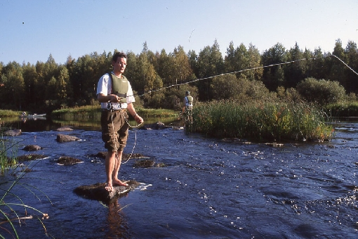 River Kiiminkijoki is a splendid place for fishing.