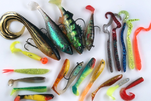 Soft plastics for perch, zander and pike.