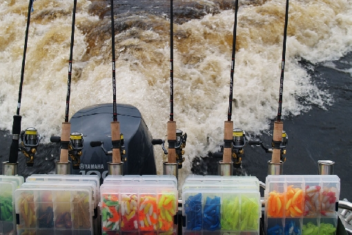 A jig angler's arsenal is colourful and abundant.