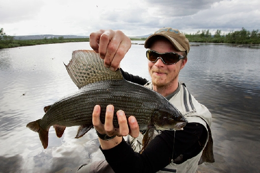 River Rommaeno is a home of huge grayling.