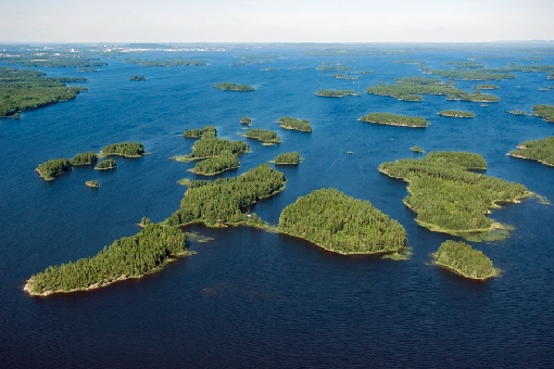 Islands in the South Kallavesi lake area.
