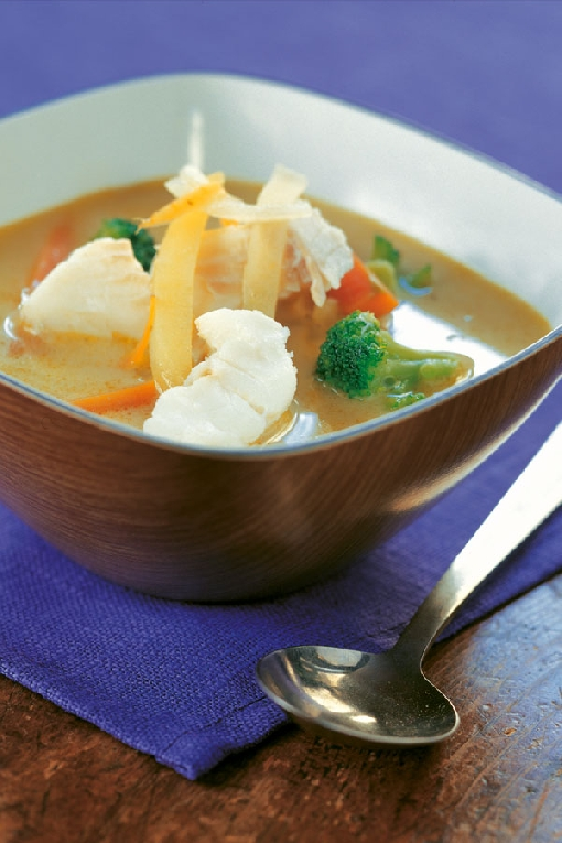Burbot soup is the seasonal dish of mid-winter.